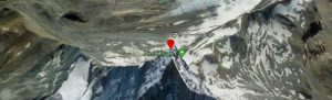Google earth マッターホルンの画面
